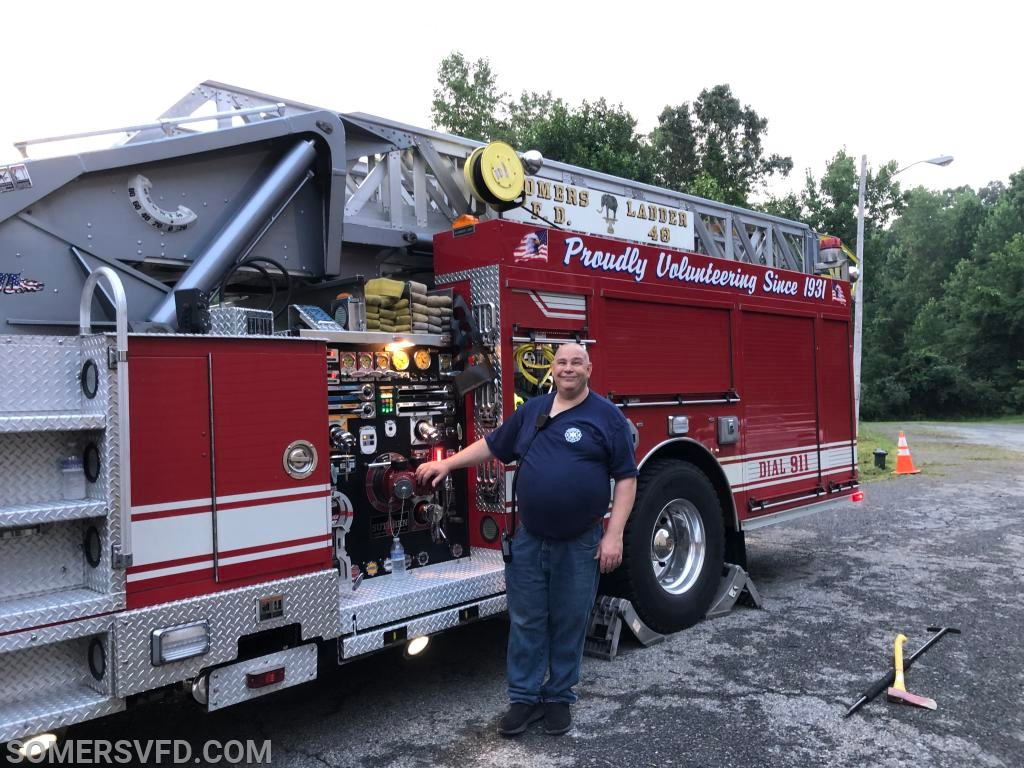 Ex-Chief Totten at the pump panel on Ladder 48