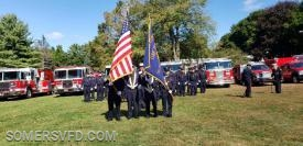 SVFD Color Guard set up for the Inspection