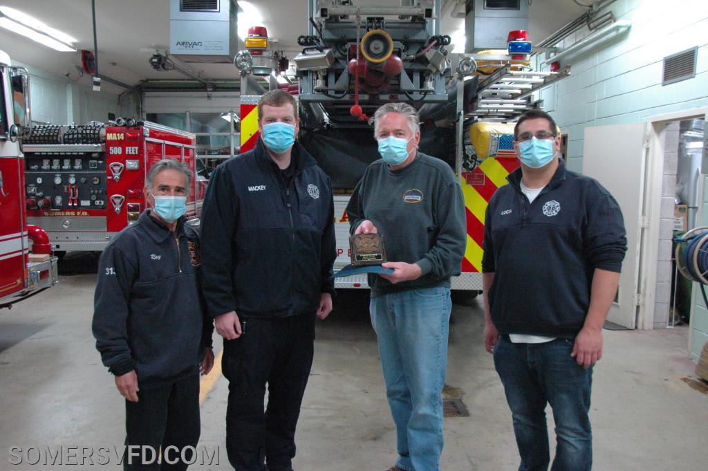 Chief's Award Recipient Firefighter Charlie Faulkner