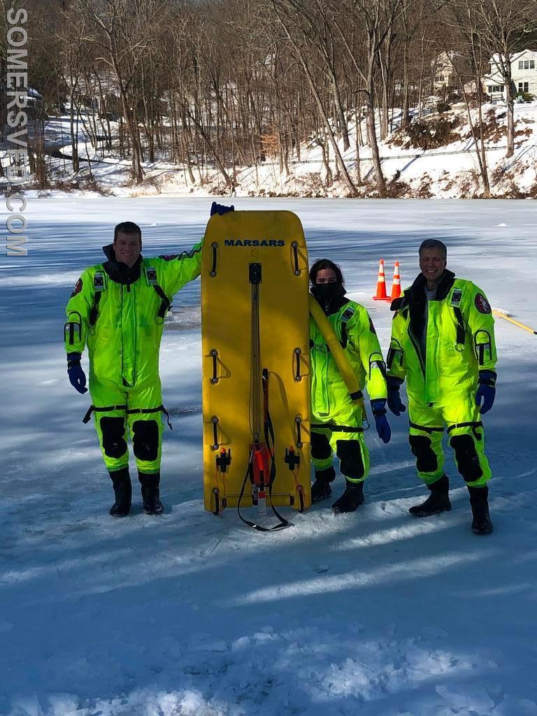 Chief Jon Mackey, EMT Aiello, Firefighter/EMT Goldberg